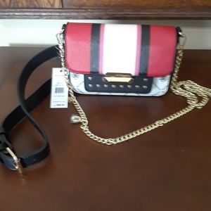 NWT BCBGeneration crossbody or belt bag  red multi